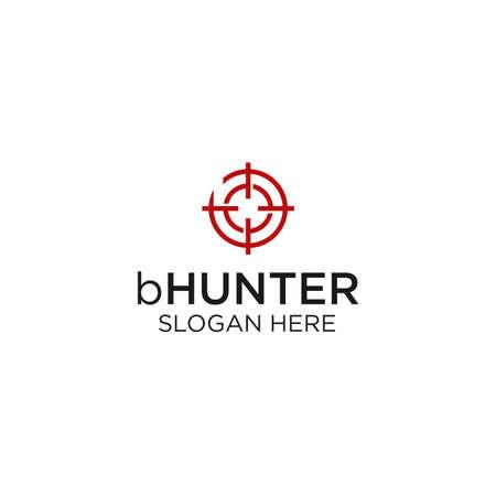 Monogram Hunter Logo Design Inspiration Ilustração