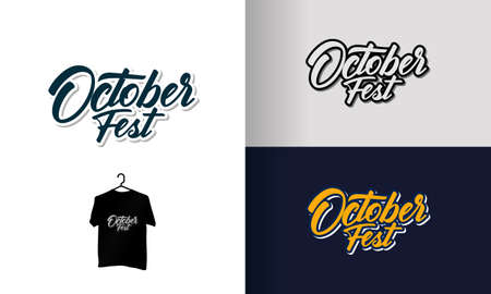 Oktoberfest handwritten lettering / Oktoberfest typography for greeting cards, poster and t-shirt vector template