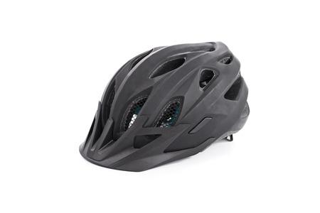 bicycle helmet: Black bicycle helmet isolated on white background Stock Photo