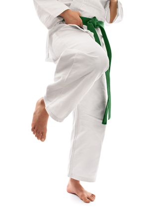 karate female: Knee kick