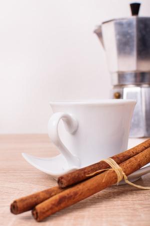 cinammon: Tea crockery with cinammon rolls