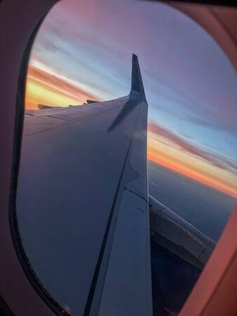 Window Seat to a beautiful sunset Stok Fotoğraf