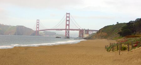 Golden Gate Bridge from Baker Beach in San Francisco, California Zdjęcie Seryjne