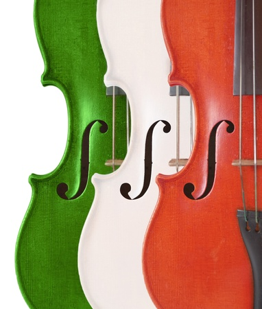violins: colored violins Stock Photo