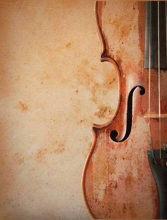 violin over vintage background photo