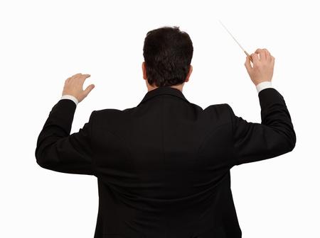 chef d'orchestre avec le bâton