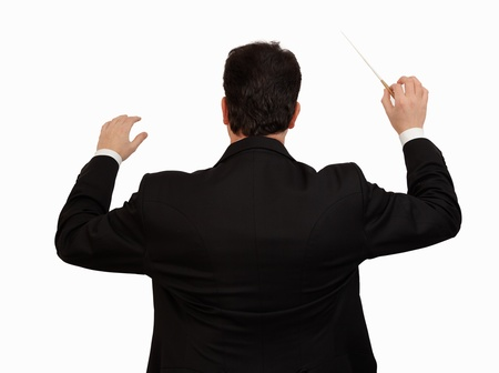 conductor: conductor with baton