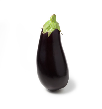 eggplant isolated on white 版權商用圖片