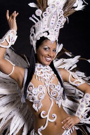 Samba brésilienne danseuse Banque d'images