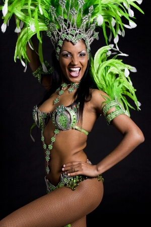carnaval: Braziliaanse samba danseres