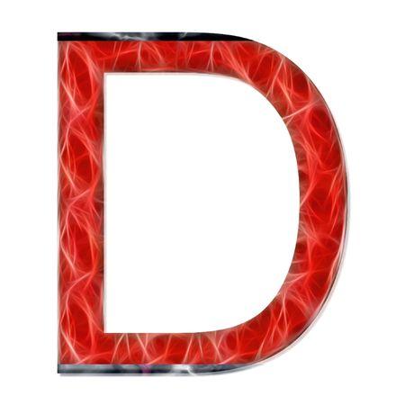 consonant: alphabetical letter, consonant D, modern red color