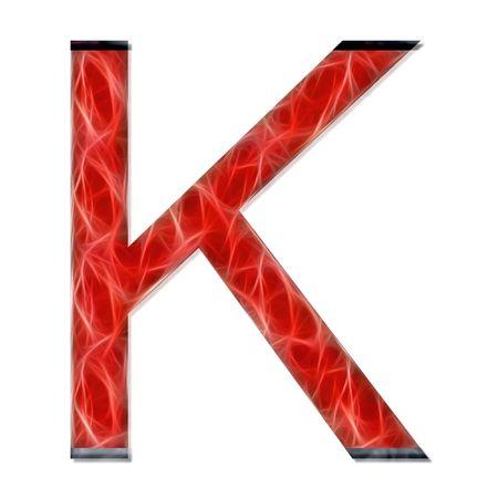consonant: alphabetical letter, consonant K, modern red color Stock Photo