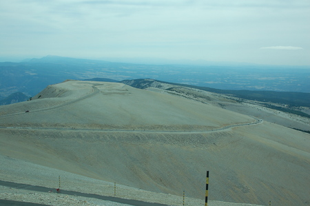 Typical view on the top of the Mont Ventoux in France