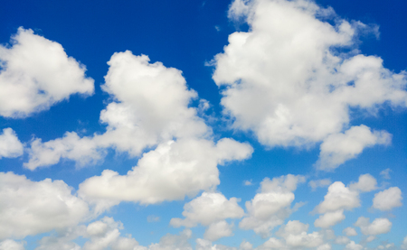 blue sky with white cloud background