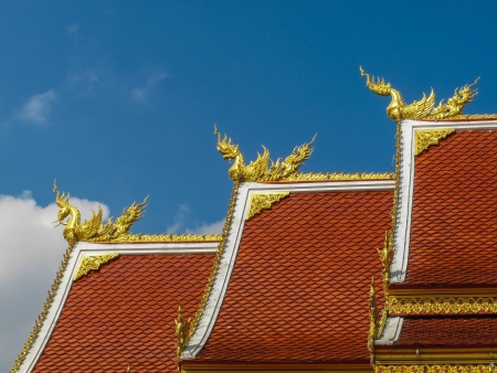Church with a Thai style roof photo