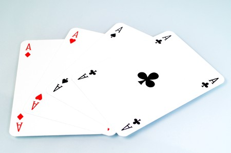 solitaire: Four Aces are a poker in the cardgame
