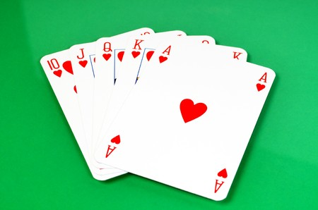 solitaire: A royal flash is the highest card in poker