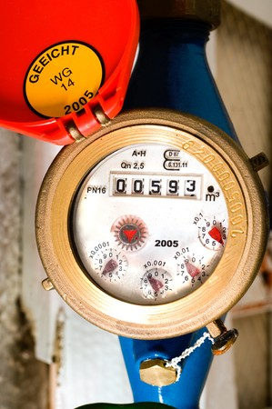 usual: A usual water meter to control the usage Stock Photo