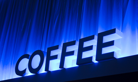 illuminated: Illuminated Coffee Stock Photo