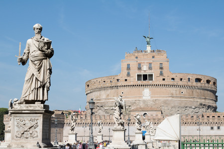 Castel SantAngelo in Rome, Italy Stock Photo
