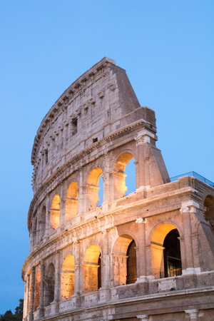 The Colosseum in Rome by Night, Italy