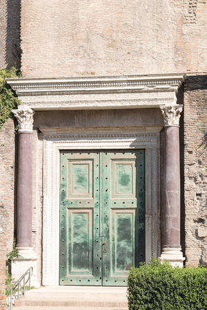 Temple of Romulus at the Roman Forum, Rome, Italy