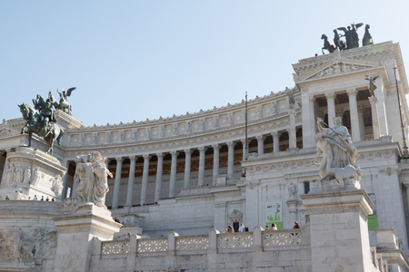 National Monument to Victor Emmanuel II in Rome, Italy Editorial
