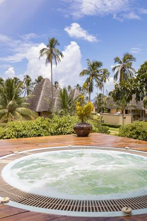 outdoor  hot tub in Zanzibar, Tanzania Archivio Fotografico