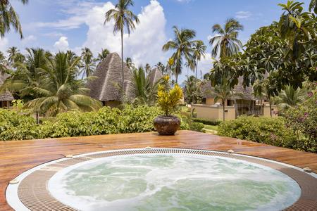 outdoor hot tub in Zanzibar, Tanzania