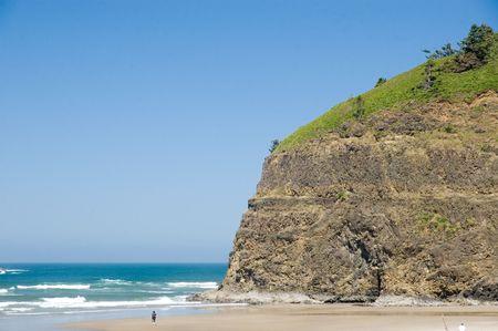 Cliffs on Oceanside Beach, Oregon