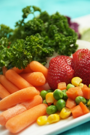 Combation fruits and vegetable for healthy food Stock Photo