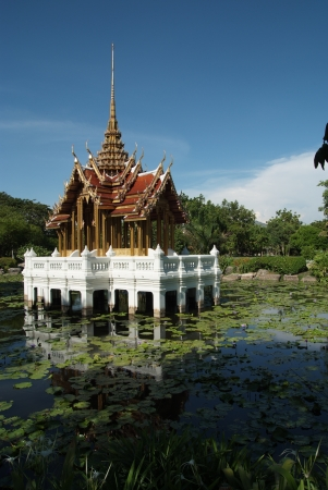 The beauty thai pavilion is located in the RAMA 9 park,BKK,Thailand. Stock Photo