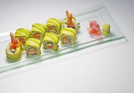 Avocado maki is one kind of Japanese food
