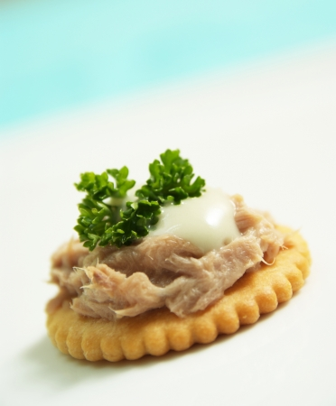 Yammy tuna canape with creamy