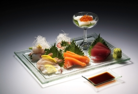 Variety of Sashimi  Raw Fish  photo