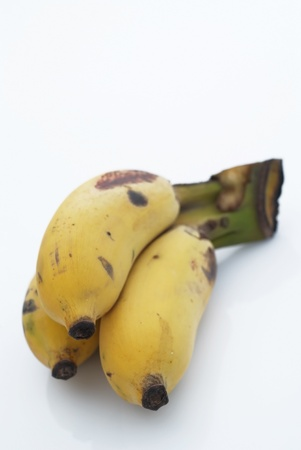 Very ripe banana on the white background Stock Photo