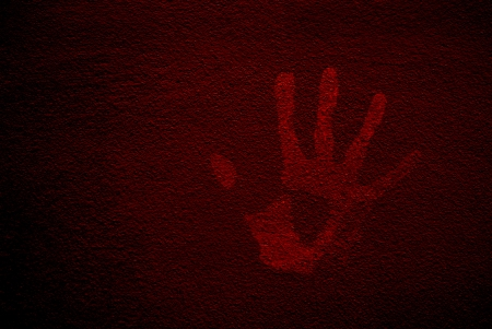 special effect: the red hand in special effect