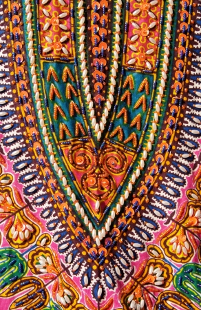 Colorful pattern and texture in cloth photo