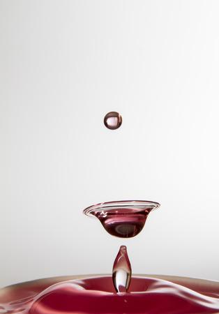 waterdrop collision Stock Photo