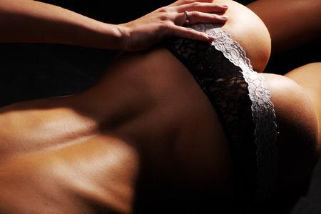 naked female body: Naked female body in lingerie