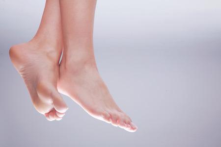 mooie voeten de natuur dicht op Stockfoto