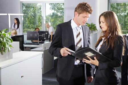 Office Business Men and Women talking