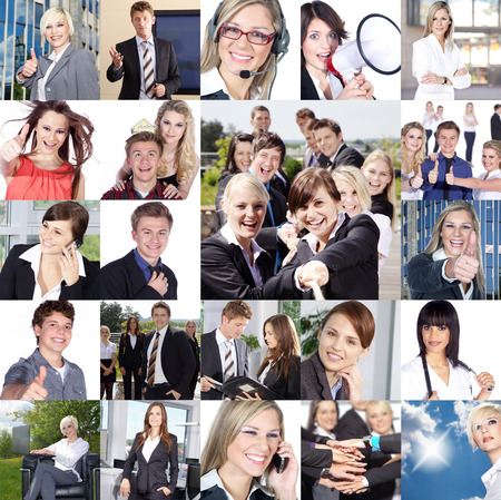 appointed: Business collage appointed to various Stock Photo