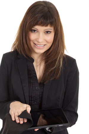 business woman with tablet  in hand photo