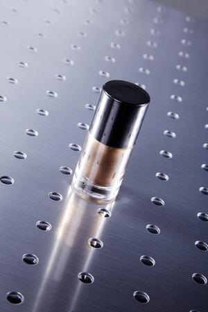 nail polishes in beautiful flacon photo