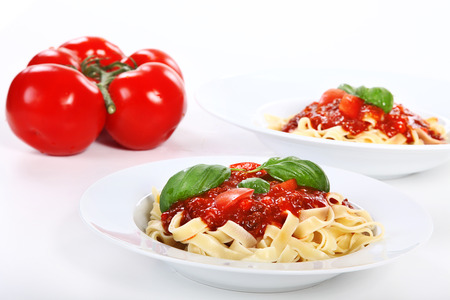 diat product: two noodle menus with tomatoes as deco