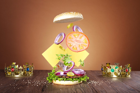 diat product: hamburger flies in individual share