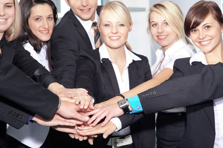 Business Team Power stacked hands