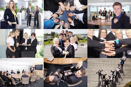 Business-Collage in verschiedenen Situationen