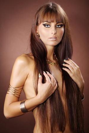 Mode-Modell im Cleopatra-Stil Standard-Bild - 28804075